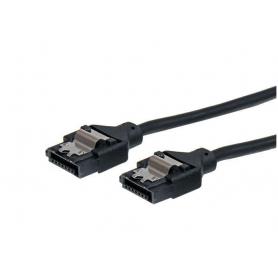 Câble SATA rond à verrouillage de 15 cm