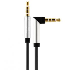 Earldom 3.5mm AUX Audio Cable Aluminum Alloy for Car Speaker - Black