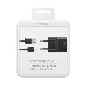 Samsung Originale Chageur EP-TA20EBE 2A 15W & Câbles Data USB TYP-C Noir