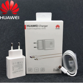 Chargeur Original Huawei Supercharger 40W EU chargeur adaptateur secteur 5A USB type C câble