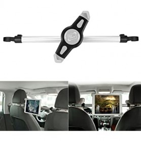 Support de tablette d'appui-tête de voiture rotatif à 360 degrés - Supports de tablette de 19 cm à 30 cm de large