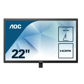 "MONITEUR Ecran LED 22"" AOC 22B1H Full HD (dalle TN) - 22B1H"