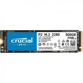 SSD Micron P2 CT500P2SSD8 - M.2 2280 Interne - 500 Go- nvme