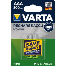 VARTA Pile rechargeable 2xAAA 800mAh