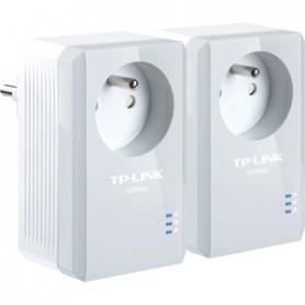 TP-Link CPL 600Mbps avec Prise Intégrée et Ports Ethernet, PRISE Kit de 2 TL-PA4015PKIT
