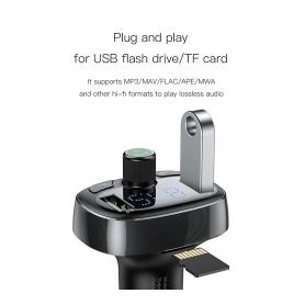 BASEUS Allume Cigare Multifonction Bluetooth Radio FM Ports USB