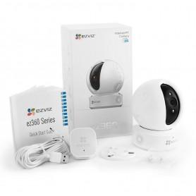 EZVIZ CAMERA DOME IP FULL HD 1080P WIFI PTZ MODÈLE C6C - MICRO Wifi / SD