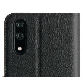 Wallet Case - Black, Huawei P20 SIMILI CUIR AVEC AIMANT