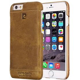 PIERRE CARDIN OFFICIEL COQUE EN CUIR SLIM MARRON iPhone 6PLUS-6SPLUS