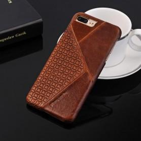 PIERRE CARDIN OFFICIEL COQUE EN CUIR SLIM MARRON iPhone 7 & 8 et SE 2020