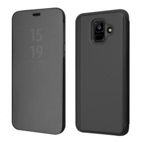 OKKES Book Case Milo Mirror pour Samsung  J4 PLUS NOIR