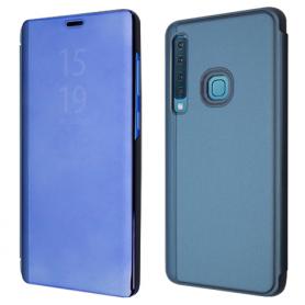 OKKES Book Case Milo Mirror pour Samsung  J5 2017 BLEU