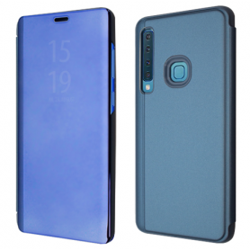 OKKES Book Case Milo Mirror pour Samsung  J6 2018 BLEU
