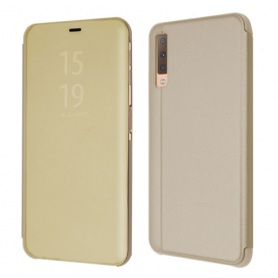 OKKES Book Case Milo Mirror pour Samsung  J4 PLUS GOLD