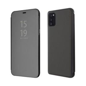 OKKES Book Case Milo Mirror pour Samsung  A41 NOIR
