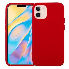 """Coque softy touch pour iPhone 12 MINI (5.4"""") - ROUGE"""