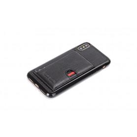 PIERRE CARDIN OFFICIEL COQUE EN CUIR SLIM NOIR iPhone X/XS