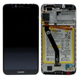 Huawei Y6 2018 ECRAN LCD SERVICE PACK+BATTERIE ASSEMBLE  2018 02351WLJ NOIR