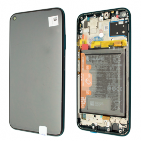 Huawei P40 Lite ECRAN LCD SUR CHASSIS ET BATTERIE Original CRUSH GREEN