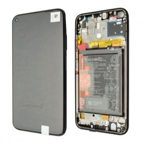Huawei P40 Lite ECRAN LCD SUR CHASSIS ET BATTERIE Original MIDNIGHT BLACK
