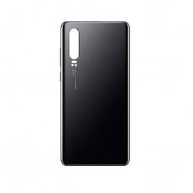 Couvercle arrière compatible noir Huawei P30 avec LOGO