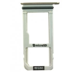 Tiroir SIM + Micro SD Samsung Galaxy A3 2017 Or