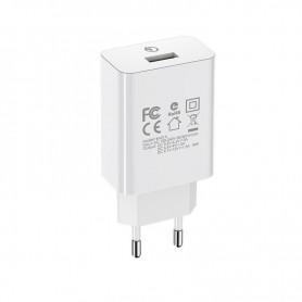 BOROFONE CHARGEUR RAPIDE BLANC BA21A QC 3.0 - 1 USB - 18 WATTS