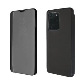 """OKKES"" ® Book Case ""Milo Mirror"" pour Samsung G988F Galaxy S20 Ultra noir"
