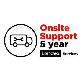 Lenovo Warranty/Support - 5 an(s) - Garantie - Sur site - Maintenance - Matériaux et la main d'oeuvre - Physique Service