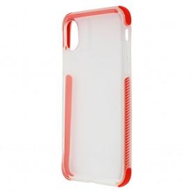 COQUE GEL RENFORCE EN TPU Ultra, Transparent & Rouge pour iPhone XR