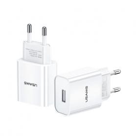 USAMS CHARGEUR USB  Single USB 2,1A Blanc