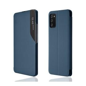 """OKKES"" Book Case ""SmartView"" pour Samsung A025G Galaxy A02s bleu"