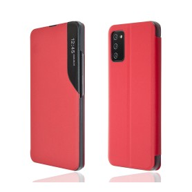 """OKKES"" Book Case ""SmartView"" pour Samsung A025G Galaxy A02s rouge"