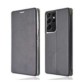 """OKKES"" Book Case ""Osaka"" pour Samsung G998B Galaxy S21 Ultra noir"