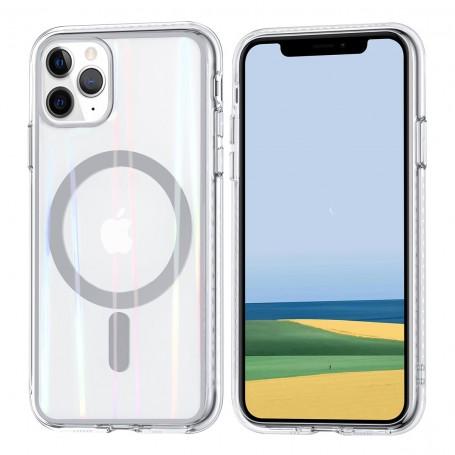 Coque Silicone pour iPhone 11 couleur argenté