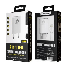 """""""PowerStar"""" ® """"P-002"""" 2in1 chargeur Lightning pour Apple iPhone 8, 8 Plus, X, XR, XS Max"""